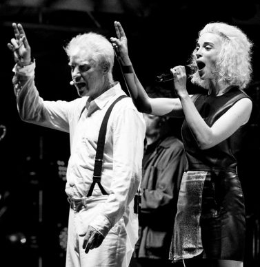 David Byrne and St. Vincent by Joshua Brasted