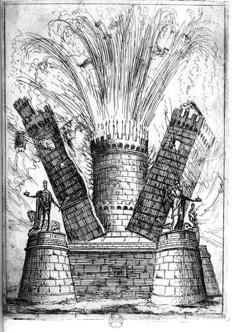 The image above is from Claude Lorrain's series featured in Relatione delle feste fatte dell' Excellentiss. Sig. Marchese di Castello Rodrigo (1637)