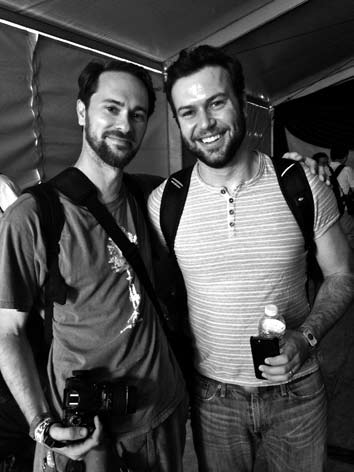 Kevin with Taran Killam (photo by Kerry Schrieffer)