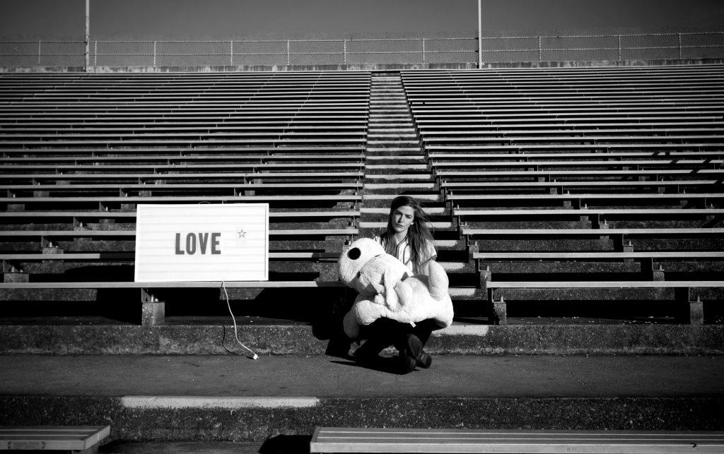 Laura Clifton Byrne poses at Tad Gormley Stadium