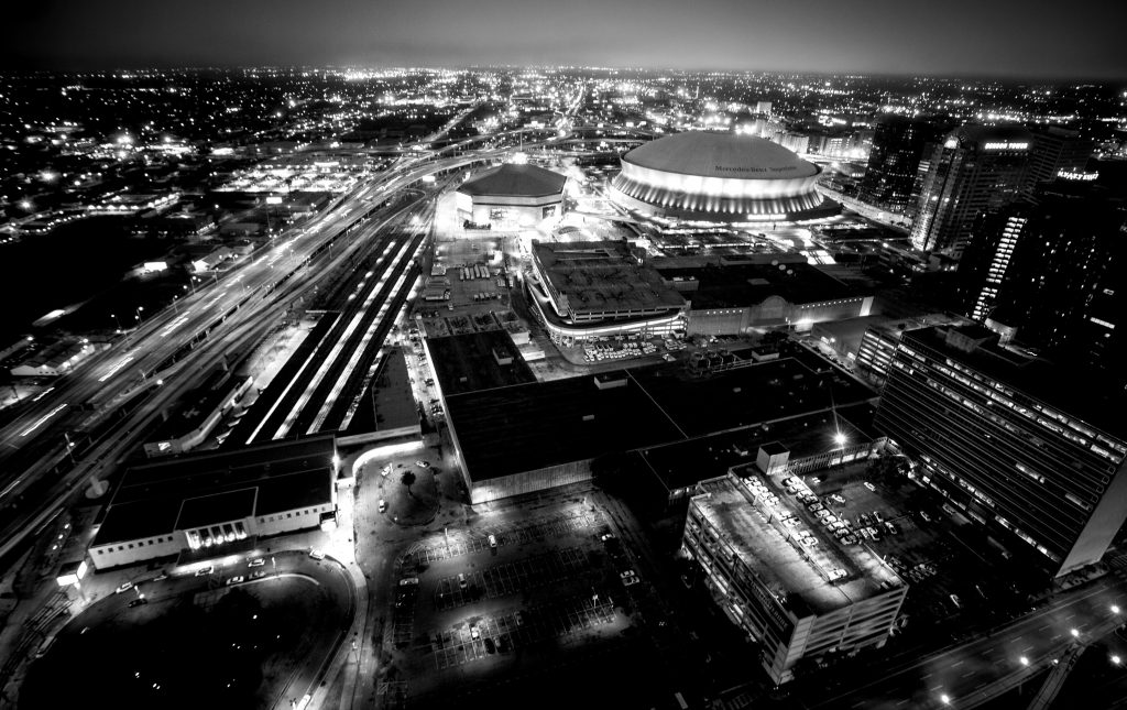 Downtown New Orleans as seen from above