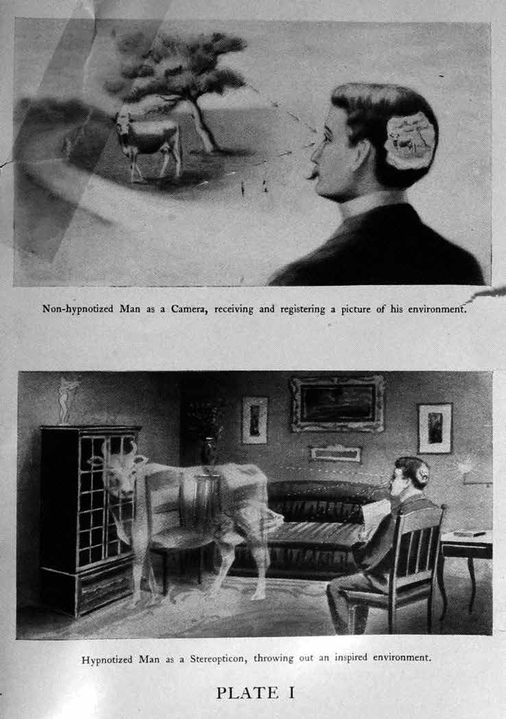 """From """"Is Man a Free Agent? The Law of Suggestion, Including Hypnosis, What and Why It Is and How to Induce It, the Law of Nature, Mind, Heredity, Etc."""" by James H. Loryea (1902)"""