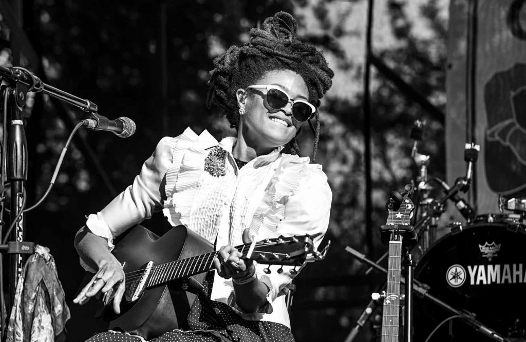Valerie June at the Crescent City Blues & BBQ Festival