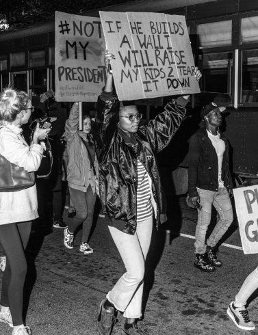 Anti-Trump protest (David Joshua Jennings)