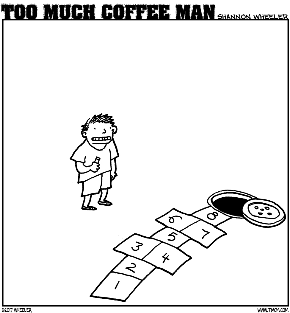 ANTIGRAVITY-JANUARY-2018-COMIC-TOO-MUCH-COFFEE-MAN-by-Shannon-Wheeler